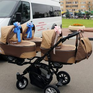 Разновидности колясок для тройни и четверни